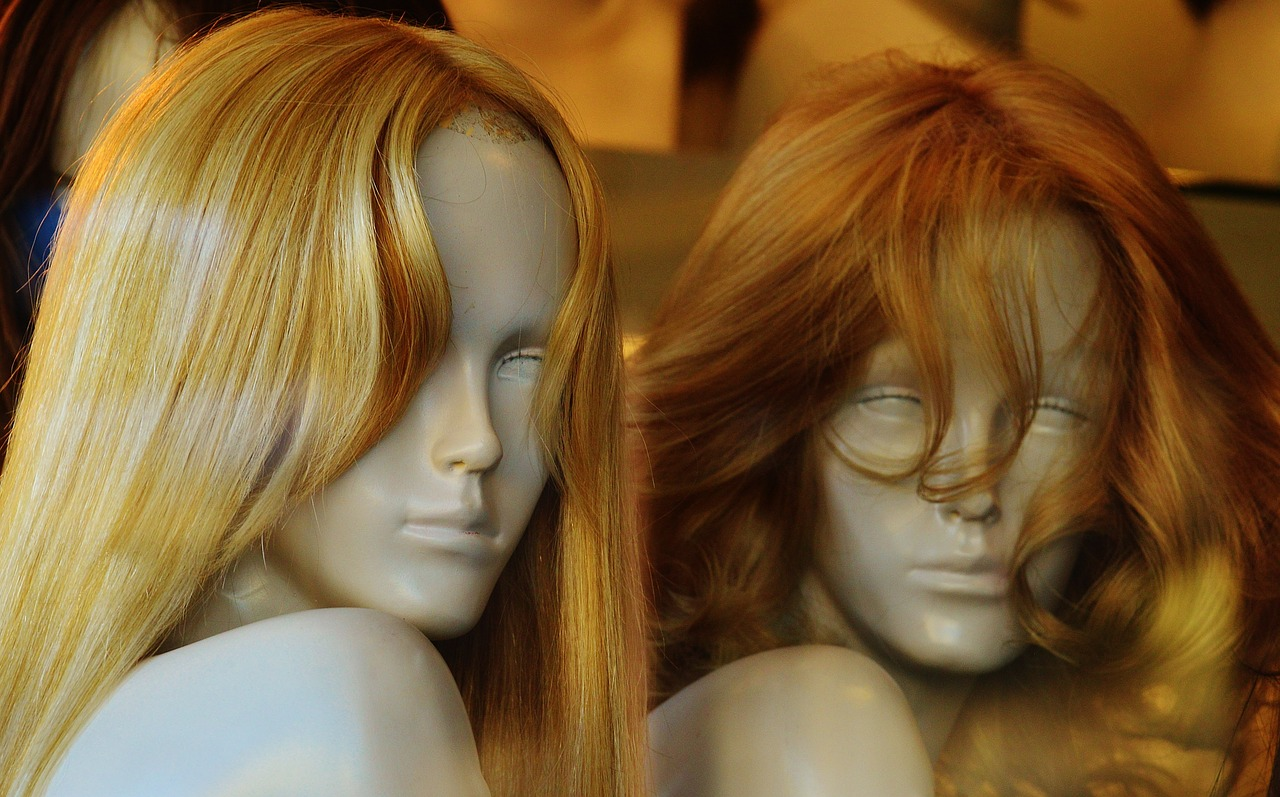 Human Hair Wig Head Mannequins